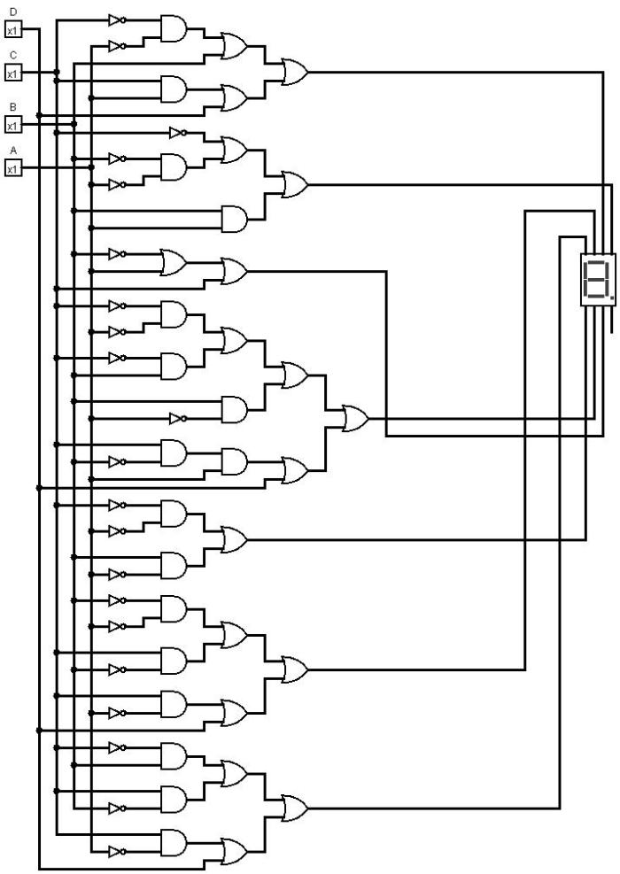 7 segment display diagram